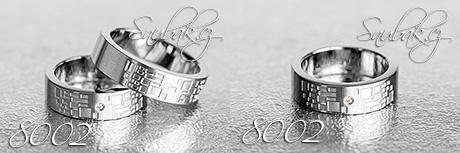 Snubní prsteny z chirurgické oceli LSP 8002