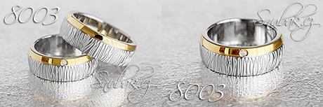 Snubní prsteny z chirurgické oceli LSP 8003