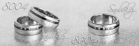 Snubní prsteny z chirurgické oceli LSP 8004