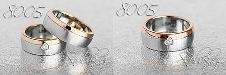 Snubní prsteny z chirurgické oceli LSP 8005