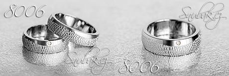 Snubní prsteny z chirurgické oceli LSP 8006