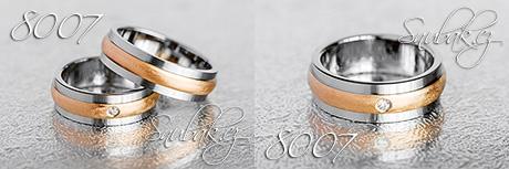 Snubní prsteny z chirurgické oceli LSP 8007