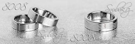 Snubní prsteny z chirurgické oceli LSP 8008