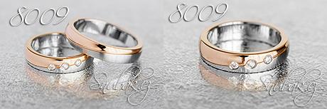 Snubní prsteny z chirurgické oceli LSP 8009