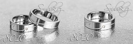 Snubní prsteny z chirurgické oceli LSP 8010