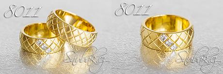 Snubní prsteny z chirurgické oceli LSP 8011
