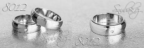 Snubní prsteny z chirurgické oceli LSP 8012