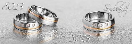 Snubní prsteny z chirurgické oceli LSP 8013