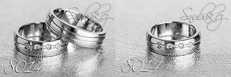 Snubní prsteny z chirurgické oceli LSP 8014