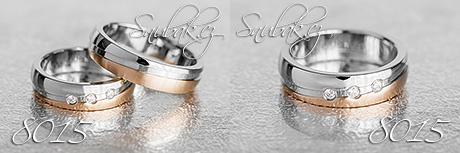 Snubní prsteny z chirurgické oceli LSP 8015