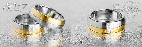 Snubní prsteny z chirurgické oceli LSP 8017