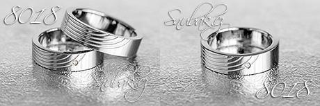Snubní prsteny z chirurgické oceli LSP 8018