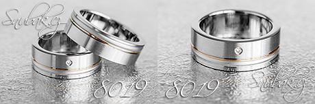 Snubní prsteny z chirurgické oceli LSP 8019