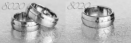 Snubní prsteny z chirurgické oceli LSP 8020