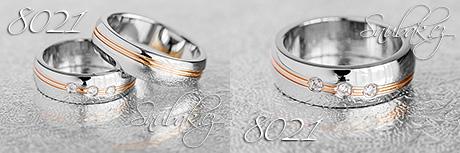 Snubní prsteny z chirurgické oceli LSP 8021