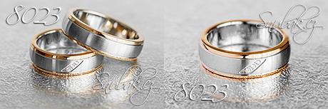 Snubní prsteny z chirurgické oceli LSP 8023