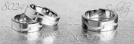 Snubní prsteny z chirurgické oceli LSP 8024