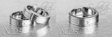 Snubní prsteny z chirurgické oceli LSP 8025