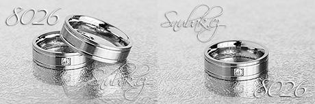 Snubní prsteny z chirurgické oceli LSP 8026
