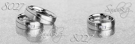Snubní prsteny z chirurgické oceli LSP 8027