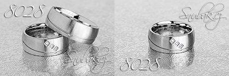 Snubní prsteny z chirurgické oceli LSP 8028
