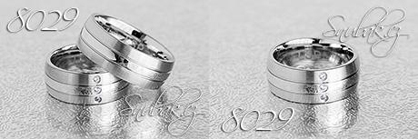 Snubní prsteny z chirurgické oceli LSP 8029