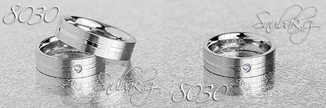 Snubní prsteny z chirurgické oceli LSP 8030