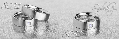 Snubní prsteny z chirurgické oceli LSP 8031