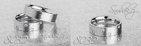 Snubní prsteny z chirurgické oceli LSP 8032