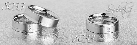 Snubní prsteny z chirurgické oceli LSP 8033