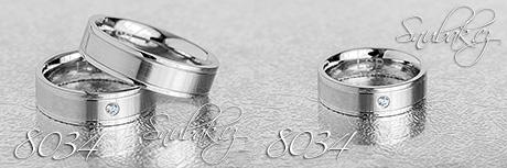 Snubní prsteny z chirurgické oceli LSP 8034