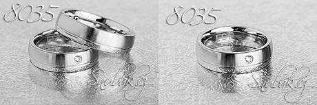 Snubní prsteny z chirurgické oceli LSP 8035